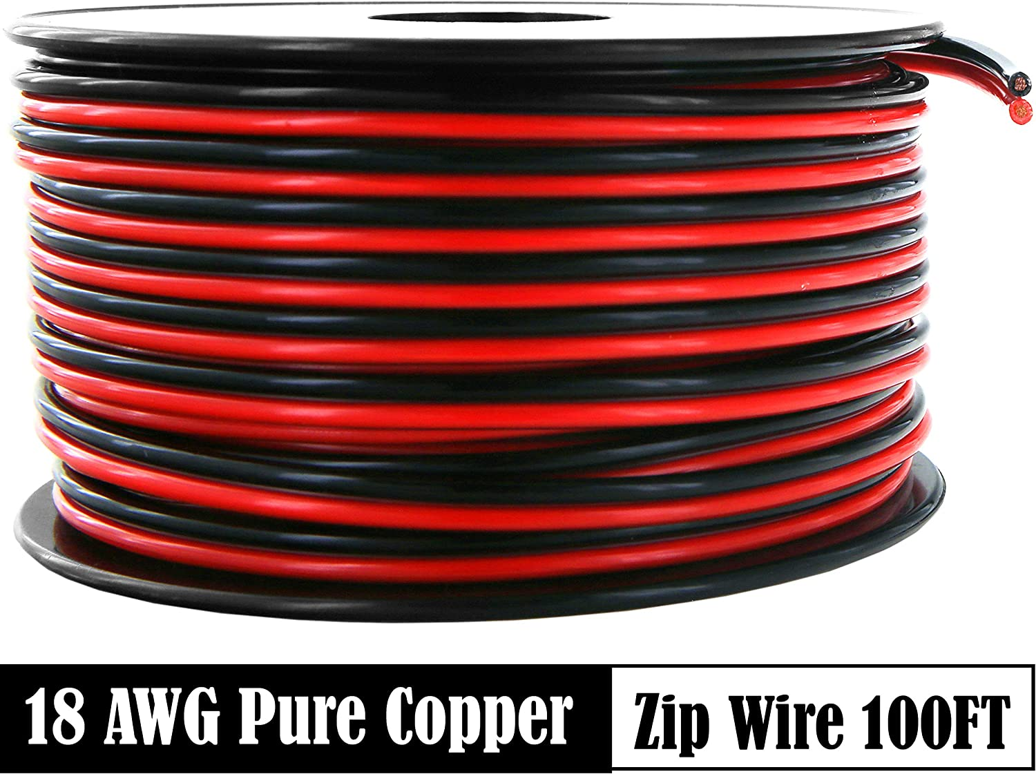 14 Gauge 100Ft BLACK OFC 100/% Copper Marine Car Home Audio Speaker Cable Wire US