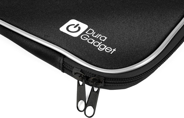 by DURAGADGET Black Shock-Absorbent 17.5 Neoprene Laptop Sleeve With Dual Zips For Huion KAMVAS GT-156HD Graphics Tablet
