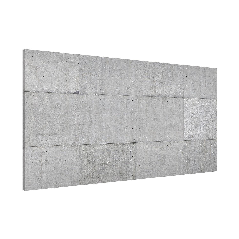 Magnettafel Beton Ziegeloptik grau Memoboard Design Quer Metall Pinnwand Magnet Pinnwand Metall Motiv Wand Stahl Küche Büro, Größe HxB: 37cm x 78cm a9829b