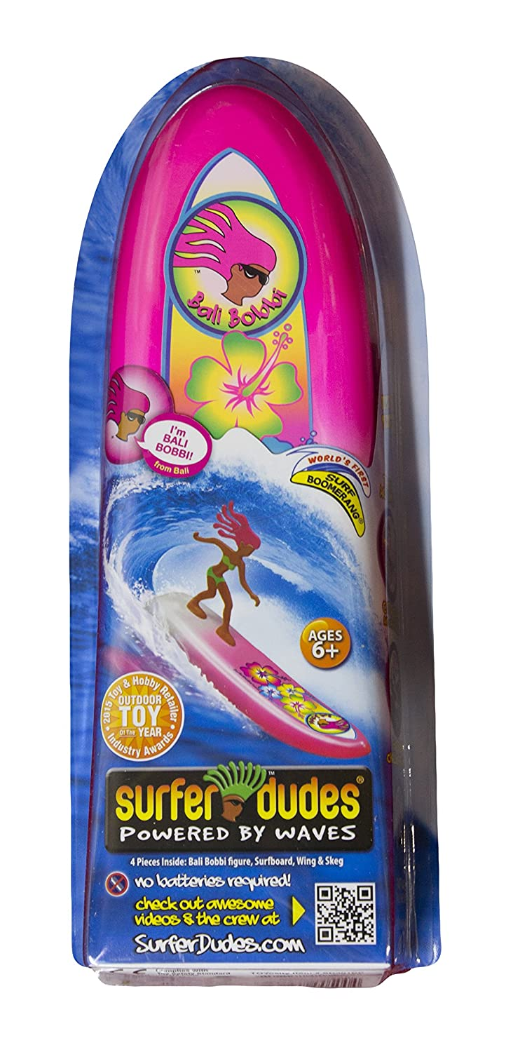 Surfer Dudes Wave Powered Mini-Surfer and Surfboard Toy Bali Bobbi by Surfer Dudes