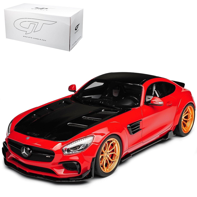 Ohne Wunschkennzeichen GT Spirit Mercedes-Benz AMG GT C190 Prior Design Rot Nr ZM 104 limitiert 1 von 504 Stück 1 18 Modell Auto