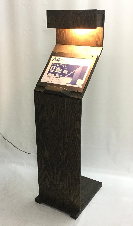 屋外用 木製オリジナルメニュースタンドC型 LED電球専用 A4×1枚 オーク MC-LED-A4-1-99-OAK   B071XSF45Z