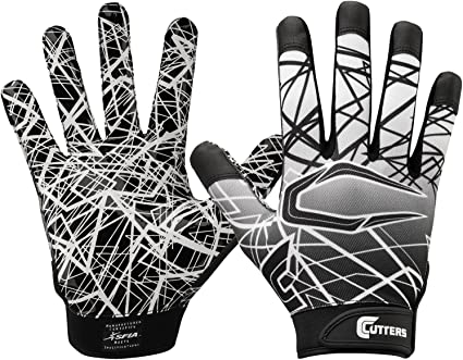 inyectar Bienes Reactor  Amazon.com : Cutters Game Day Football Glove, Silicone Grip Receiver Glove.  Youth & Adult Sizes (1 Pair) : Sports & Outdoors