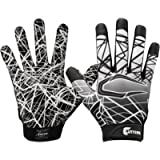 Cutters Game Day Football Glove, Silicone Grip Receiver Glove. Youth & Adult Sizes (1 Pair)