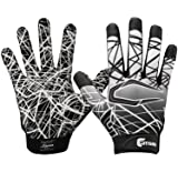 Cutters Game Day No Slip Football Gloves, Youth and Adult Sizes, Receiver Glove with High Tack Silicone Grip, Superior Support and Protection for All Ages, Guantes de Football, 1 Pair