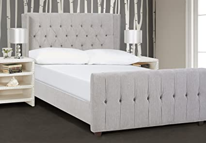 Modern upholstered bed Cushioned Image Unavailable Amazoncom Amazoncom Jennifer Taylor Home David Collection Modern Upholstered