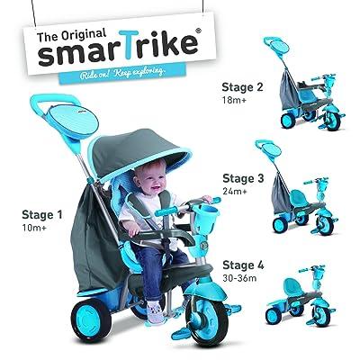 smarTrike Swing 4-in-1 Baby Trike - Blue: Toys & Games