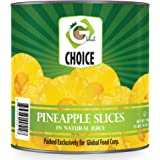 Global Choice - Pineapple Slices in Natural Juice - 108 oz - JUMBO size (1 Jumbo Size Can (108 OZ))