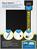 Pelle Patch - Leather & Vinyl Adhesive Repair Patch - 25 Colors Available - Heavy-Duty 8x11 - Black