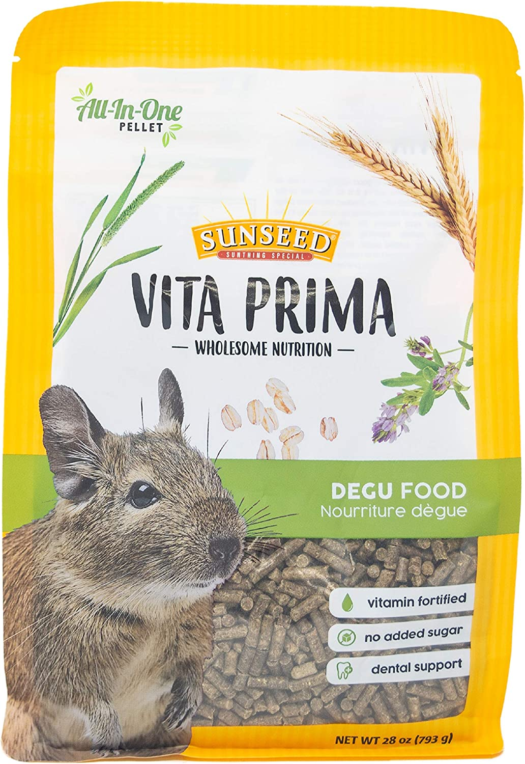 Sun Seed Company Sunscription Vita Exotics Prima Degu Formula, 28-Ounce