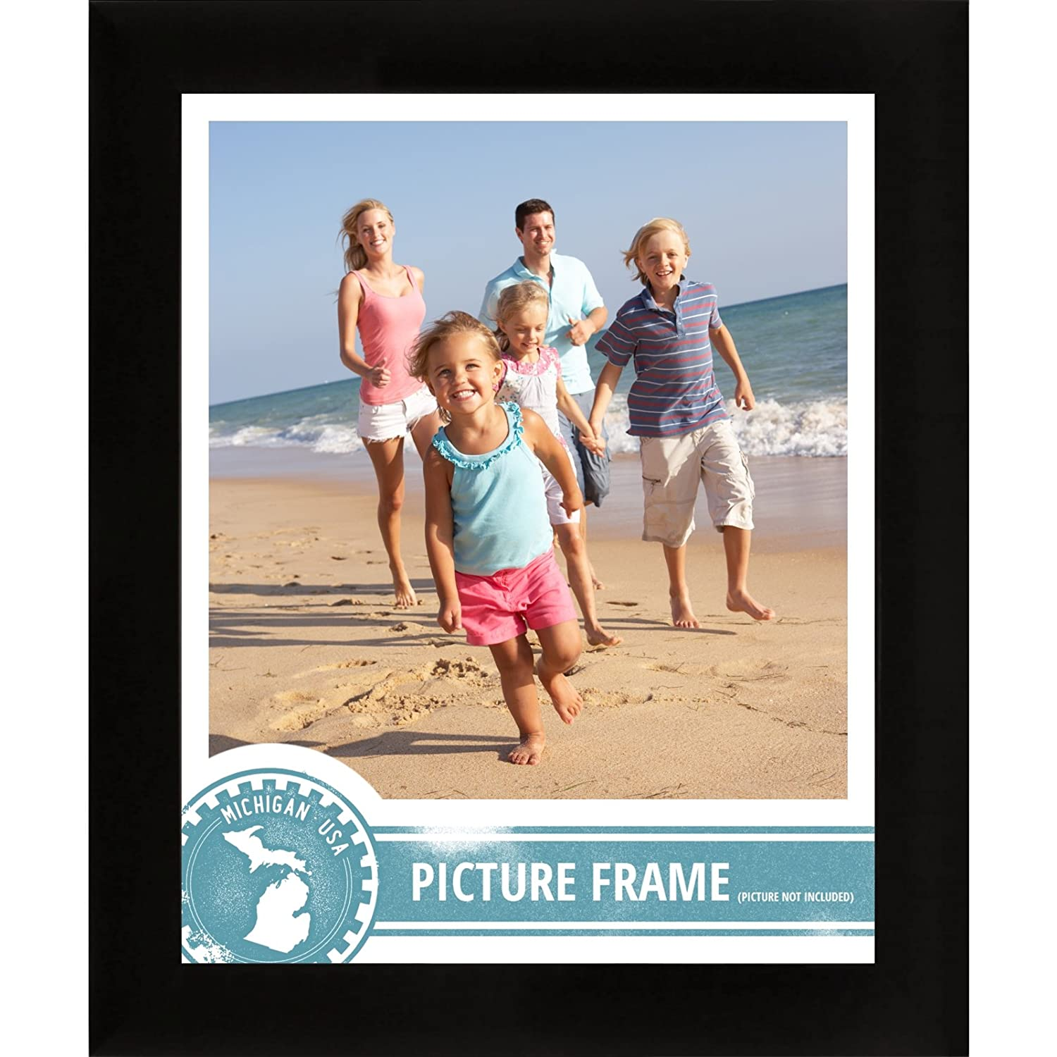 Amazon.com - Craig Frames 1WB3BK 6 by 12-Inch Picture Frame, Smooth ...