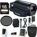 Canon VIXIA HF R800 Camcorder (Black) + 16GB SDHC card + 43mm Filter + Camera Bag & Essential Bundle
