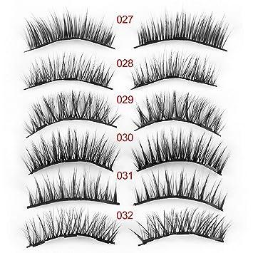 505eae91c96 Amazon.com : 1Set Triple Magnetic False Eyelashes Makeup Handmade Full  Coverage Magnet Eye Lashes Thick Long Fake Eyelashes Extension Make Up, ...