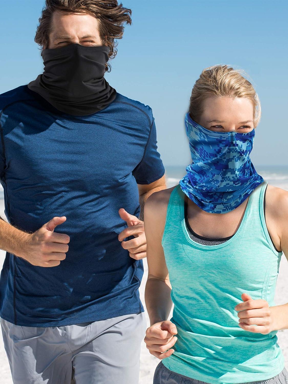 Norme 4 Pezzi Estate Bandana Maschera Sottile Collo Leggero Maschera della Cuffia Blocco Solare Sciarpa Elastica per Viso per Guidare Pesca allAperto