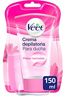 Veet Crema depilatoria de Ducha- Piel Sensible, 150ml