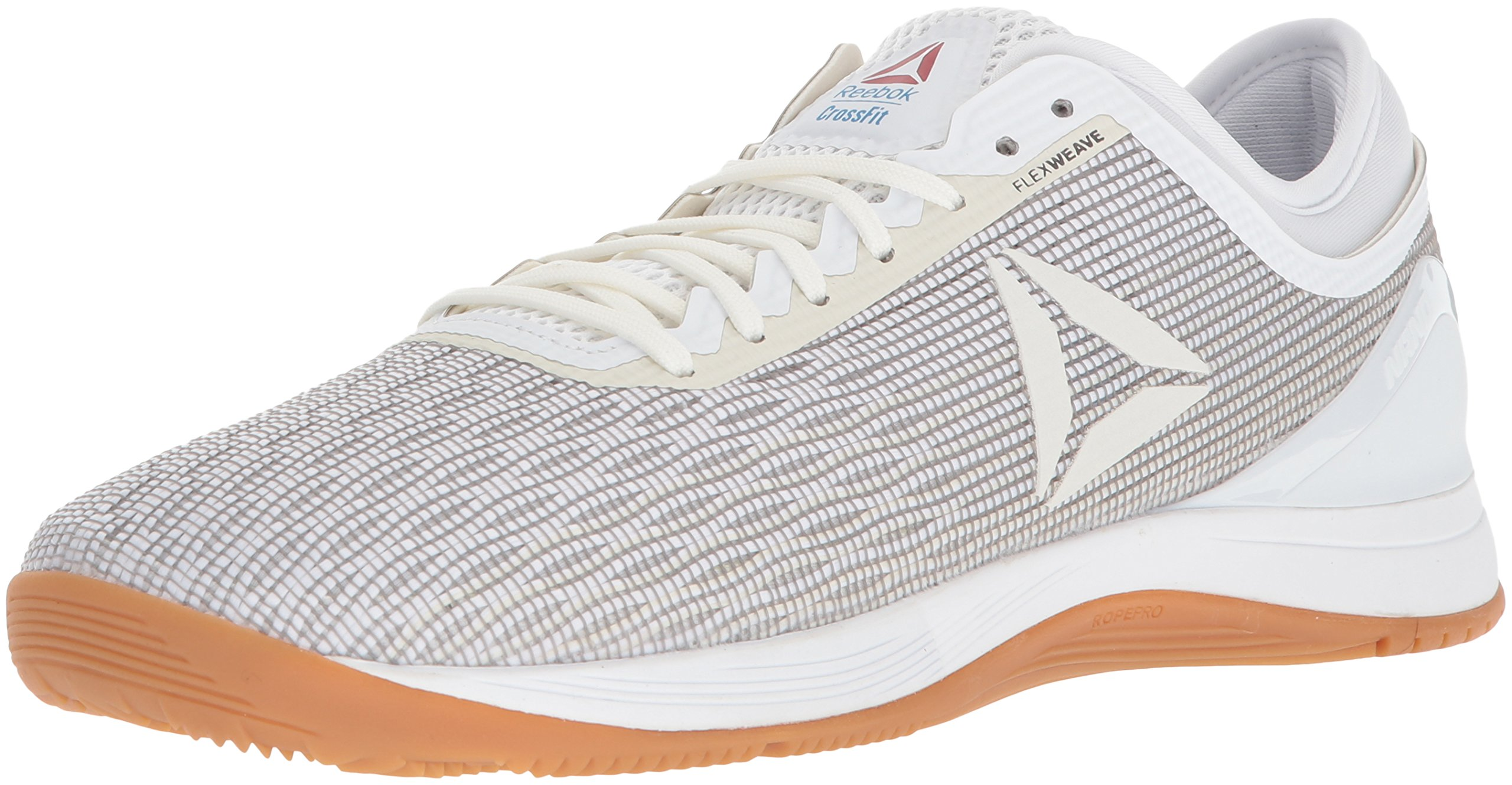 Reebok Men's CROSSFIT Nano 8.0 Flexweave Cross Trainer, White/Classic White/Excellent Red/Blue/Gum, 14 M US