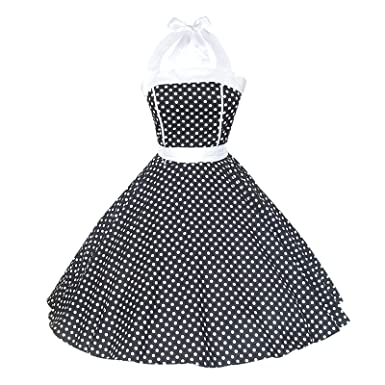 4e012a2f3337 Maggie Tang Women's 1950s Vintage Rockabilly Dress Size S Color Black and  White