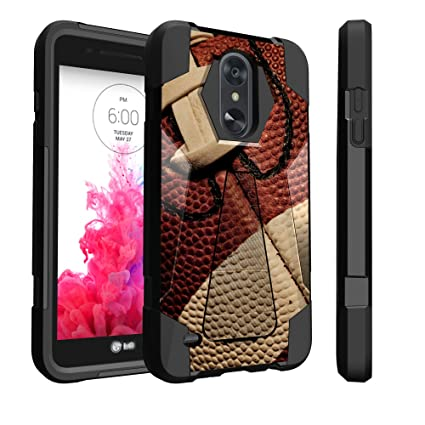 Untouchble Case for LG Tribute Dynasty, Fortune 2, Zone 4, Risio 3, LG  Aristo 2 Case [TRAVELERS] Dual Layer Hybrid Kickstand Case Cover - Football