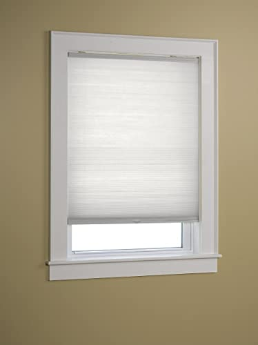 Green Mountain Vista EZ-Glide 1-Inch Cordless Pleated Cellular Shade, 48 by 64-Inch, White