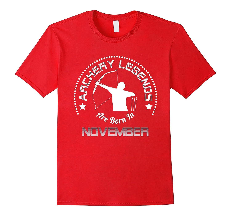 Funny T-Shirt Archery Legends Are Born In November-Vaci