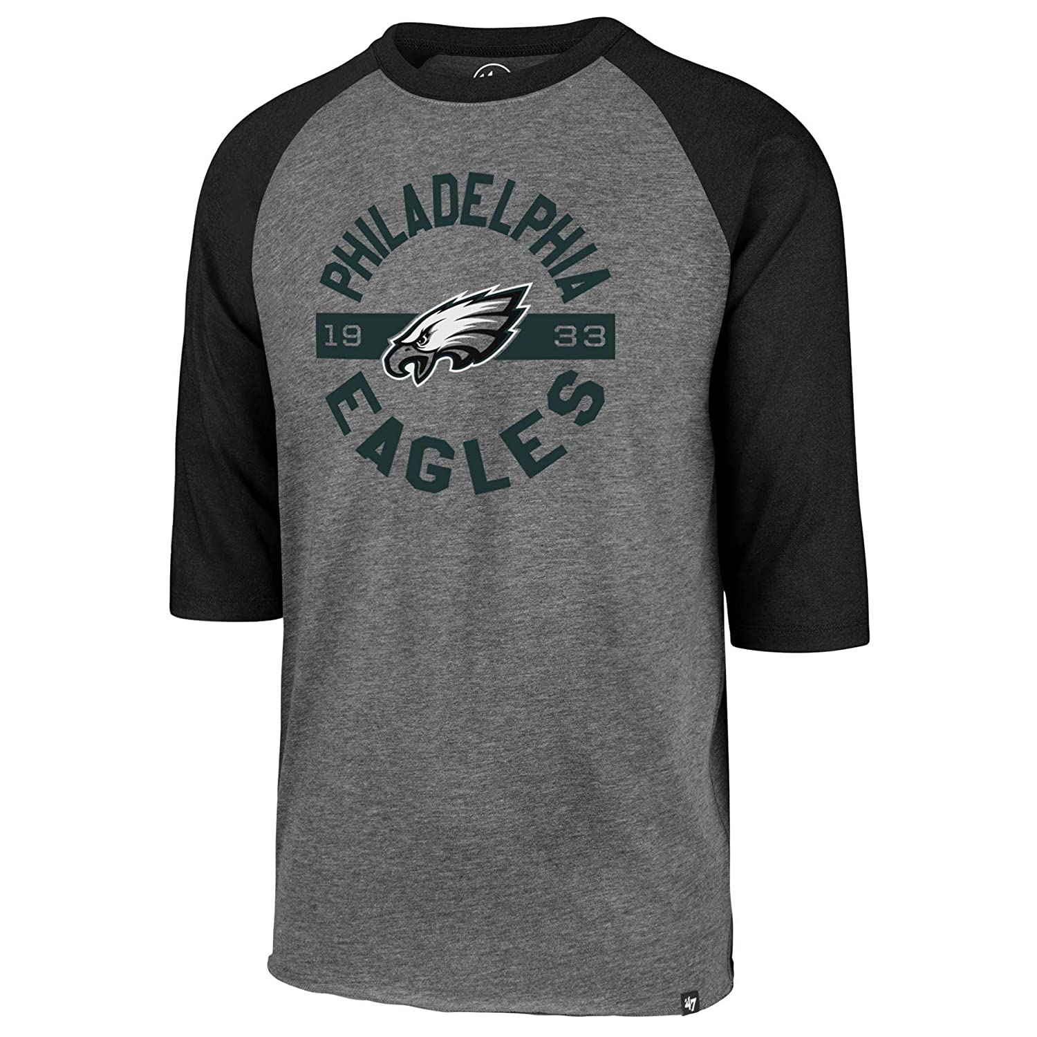 Amazon.com    47 Philadelphia Eagles NFL Roundabout Club 3 4 Raglan T-Shirt    Sports   Outdoors fbdf1827e