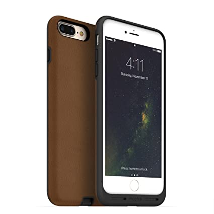 reputable site d35d6 e5006 mophie Charge Force case - Made for Apple iPhone 8 Plus and 7 Plus - Works  with Qi and Other Wireless Charge Systems - Not a Battery Case - Tan