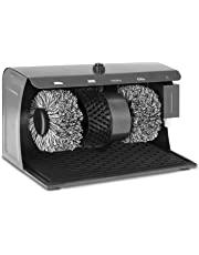 Bredeco BC-S-POL3 Maquina Limpia Zapatos Electrico (3 Cepillos, Capacidad del Dispensador 200 ml, 24,2x40x26,2 cm, Acero)