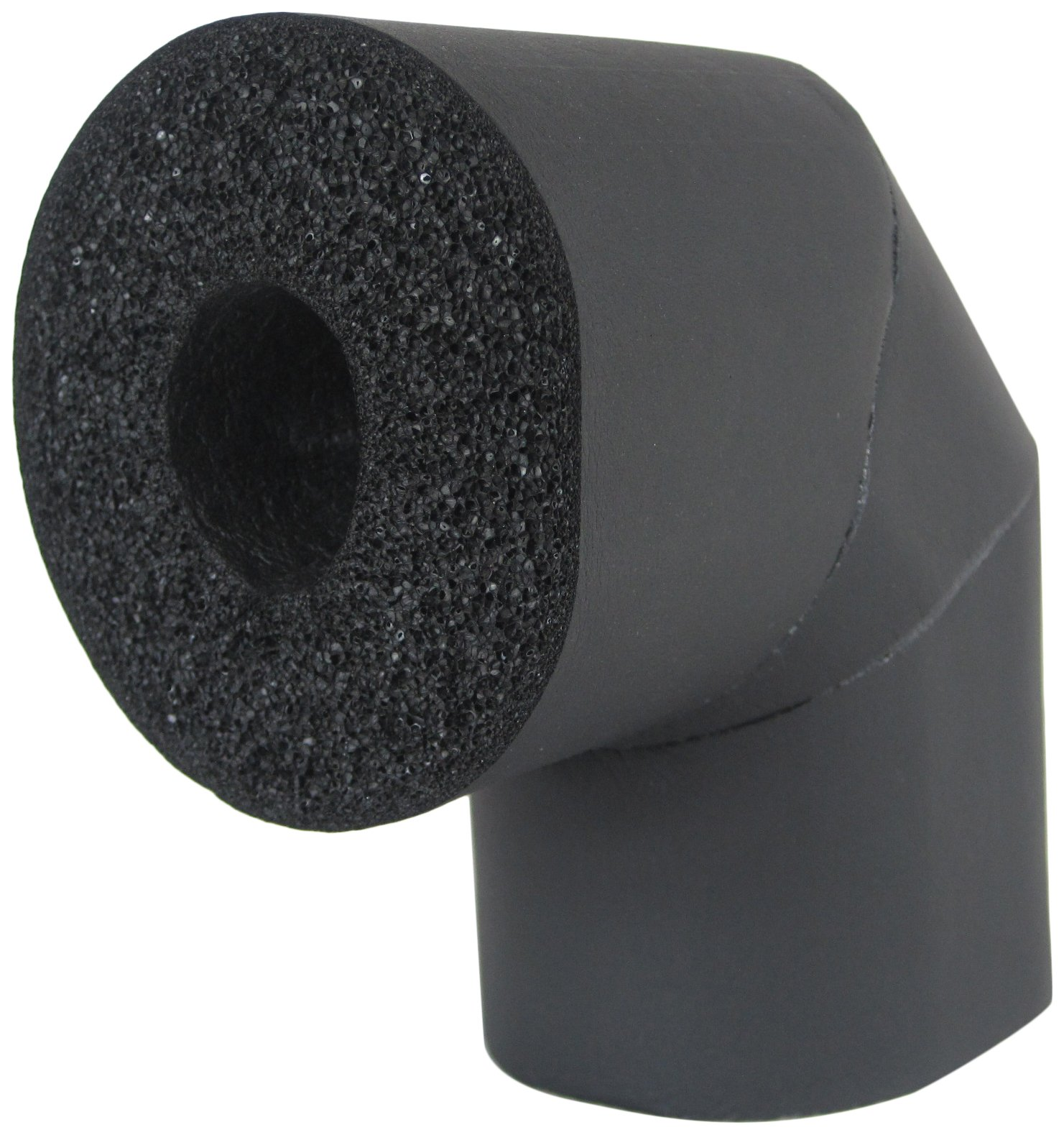 K-Flex 801-LRE-100078 Closed Cell Elastomeric Insulation, 90 degree Elbow, 7/8'' Nominal Insulation ID, 1'' Wall Thickness, Black (Pack of 21) by K-Flex (Image #1)