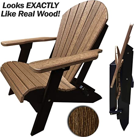 King Size Folding Adirondack Chair - Remarkably Strong Resistance