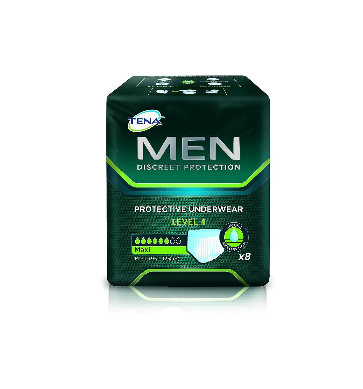 TENA MEN Nivel 4 - ropa interior protectora desechable para hombres con moderada a severa incontinencia urinaria/incontinencia - absorbente y discreta - 24 ...