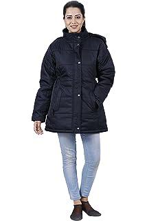 d69163e80 HIVER Women's Nylon Jacket 100% Water Proof Full-Sleeved Winter ...