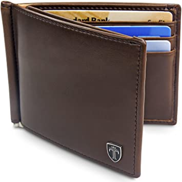 """TRAVANDO ® cartera con pinza para billetes """"VIENNA"""" Bloqueador RFID, seguridad,"""