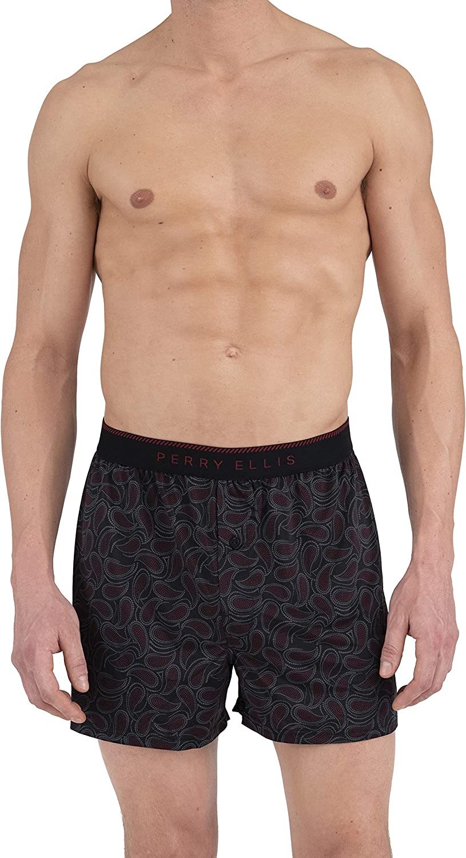 Perry Ellis Men's Paisely Fill Luxe Boxer Short