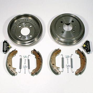 Tambor de freno y frenos + + - Mordazas de freno Cilindro de rueda + accesorios trasera: Amazon.es: Coche y moto