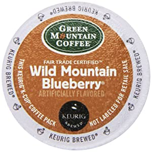 Green Mountain Coffee K-Cup, Wild Mountain Blueberry, 12-Count