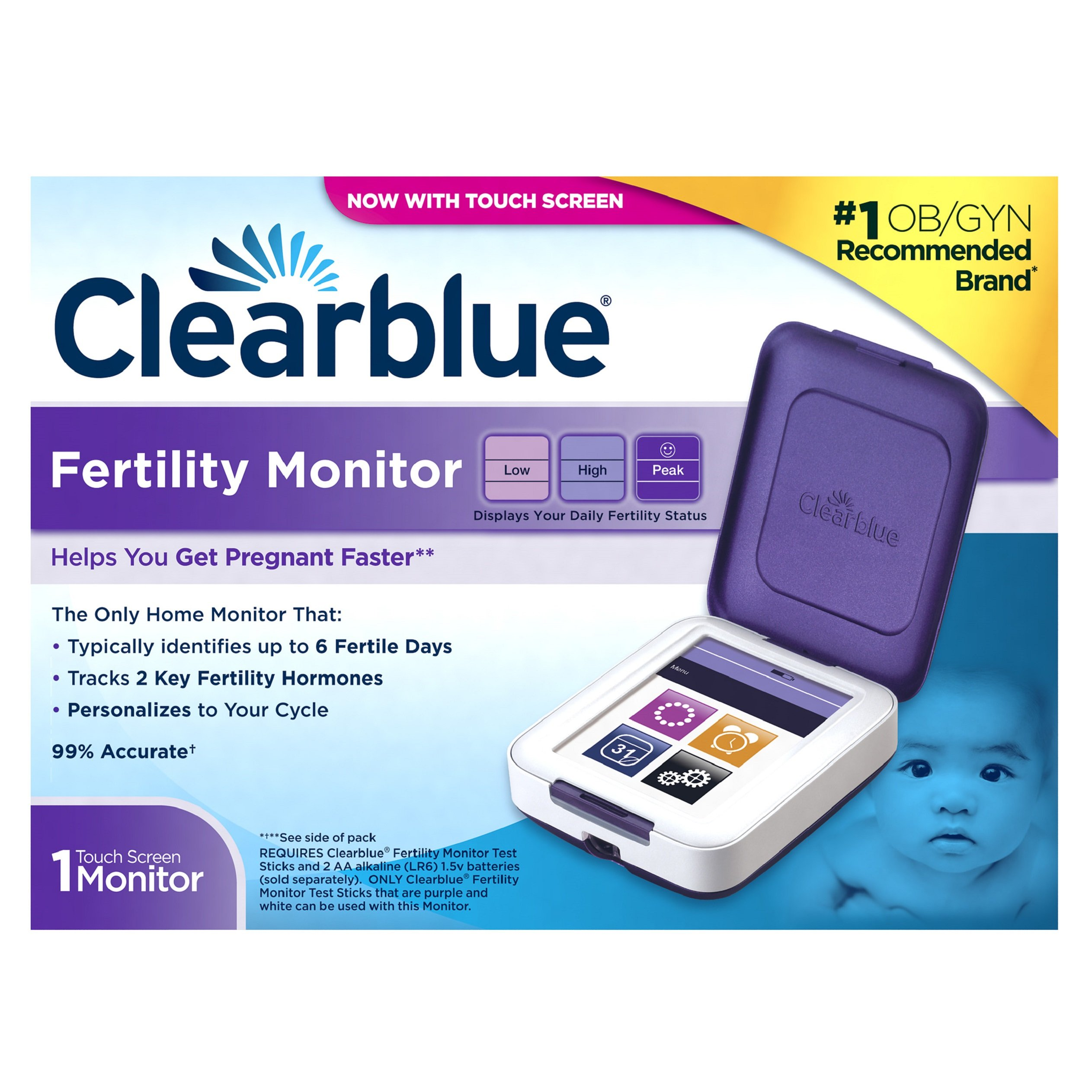 Clearblue Fertility Monitor, Touch Screen, Helps You Get Pregnant Faster by Clearblue