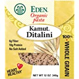 Eden Organic Kamut Ditalini, 100% Whole Grain, 12-Ounce Boxes (Pack of 6)