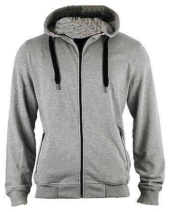 7ae5288e438c4d Shine Herren Sweatshirt Kapuzenpullover Grau Grau  Amazon.de  Bekleidung