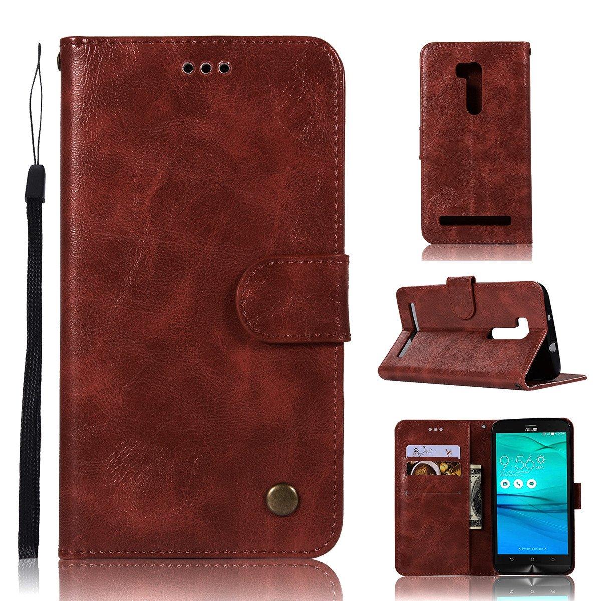 Aiceda Asus Zenfone Go Zb551kl 55 Inch Wallet Case Zb45 Premium Leather Zipper Multifunctional