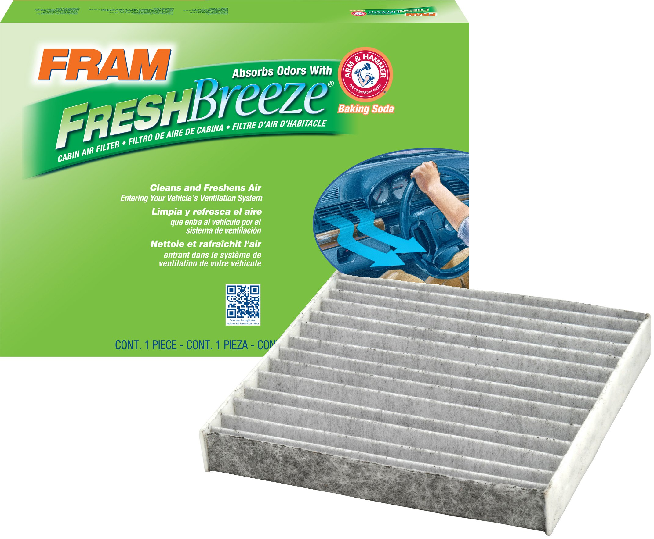 FRAM CF10285 Fresh Breeze Cabin Air Filter with Arm & Hammer by Fram