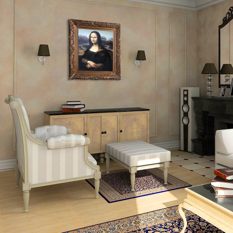 Amazon.de: overstockArt Mona Lisa mit Burgeon Gold Rahmen von ...