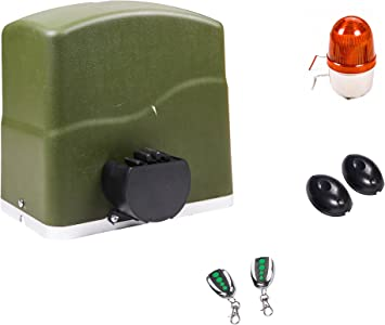 TOPENS RK700 - Abridor automático de puerta corredera para puerta de hasta 700 kg, motor operador de puerta, fotocélula e intermitente incluidos: Amazon.es: Bricolaje y herramientas