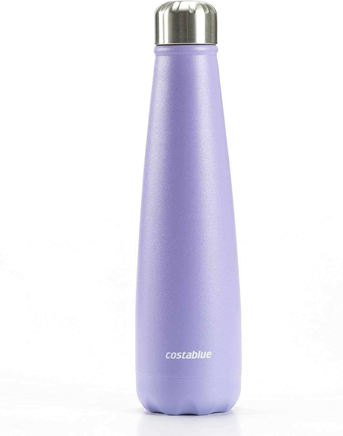 costablue - Santa Monica Collection Vacuum Insulated Double Wall Stainless Steel Bottle, 17 oz (500 ml), Leak Proof, no Sweating, Keep Your Drink hot or Cold, Powder Coating Finish, Grape