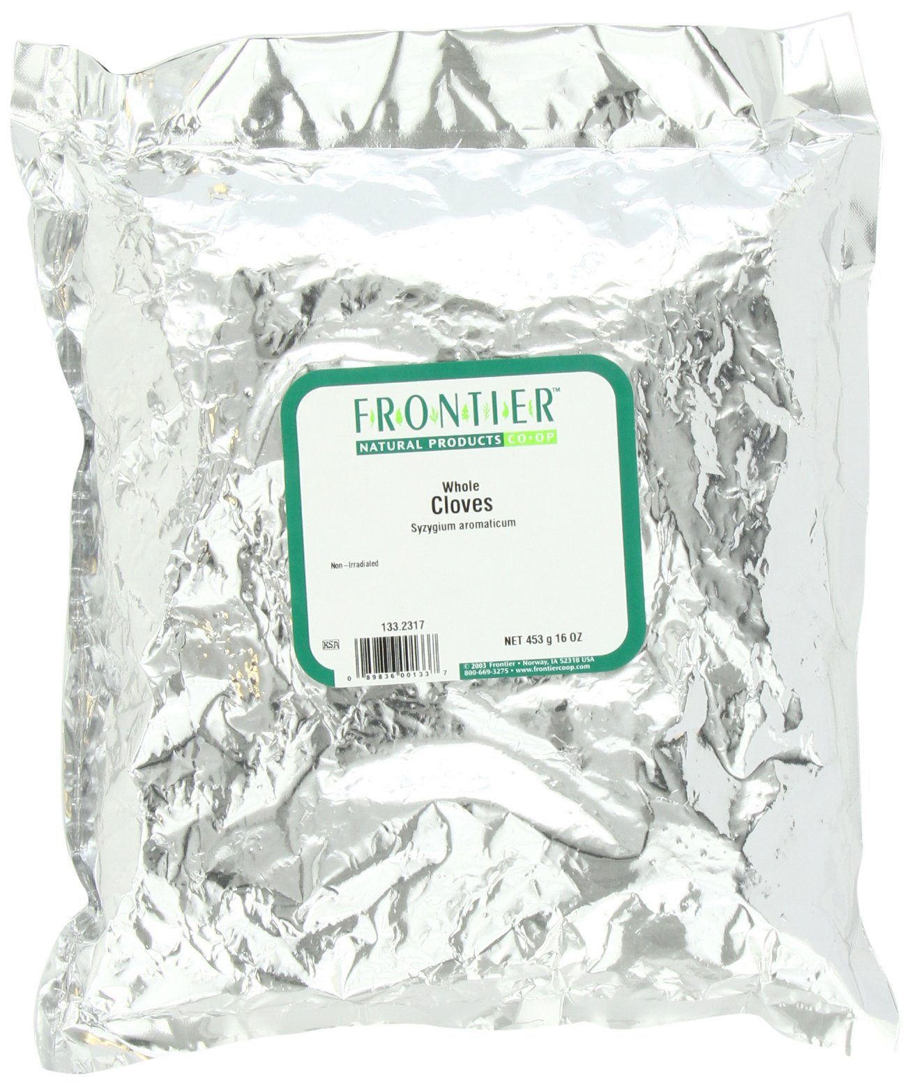 Frontier Cloves Whole, Fancy Grade, 16 Ounce Bag