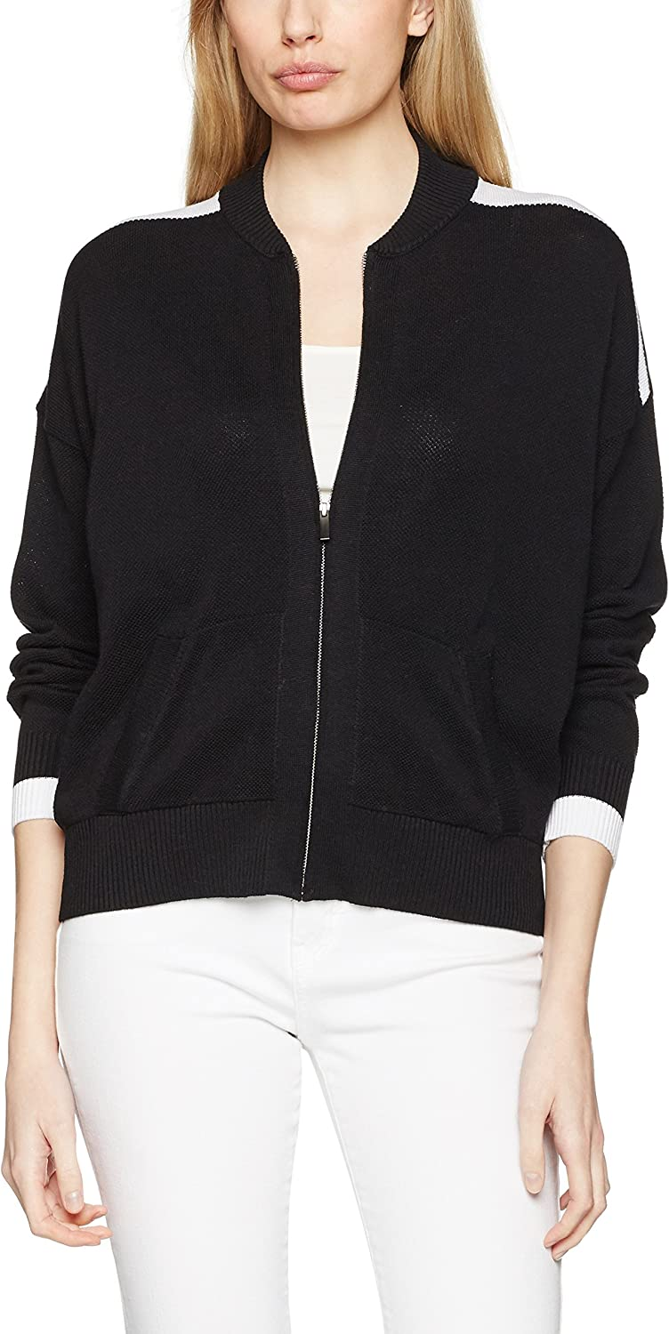 TALLA L. United Colors of Benetton Knitted Bomber Jacket Chaqueta para Mujer