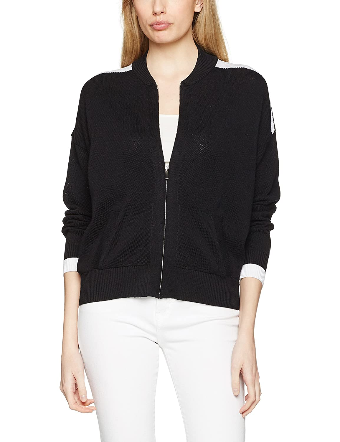United Colors of Benetton Knitted Bomber Jacket, Chaqueta para Mujer