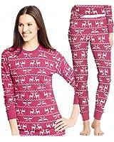 Hanes Women's X-Temp Tagless Printed Thermal Shirt and Long Underwear
