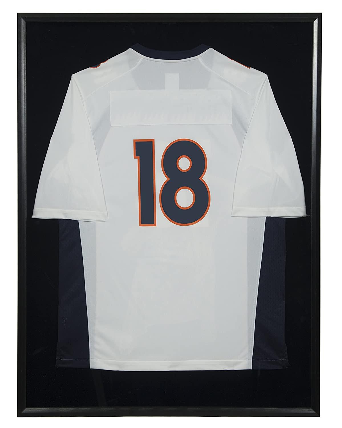 Snap Sports, 20 inches x 30 inches, Black Jersey Wall Display Case Shadow Box NBG Home 17FP1658
