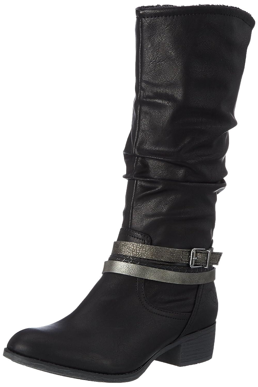 Jane Klain 255 748 - Botas de Vaquero Mujer Schwarz (Black)