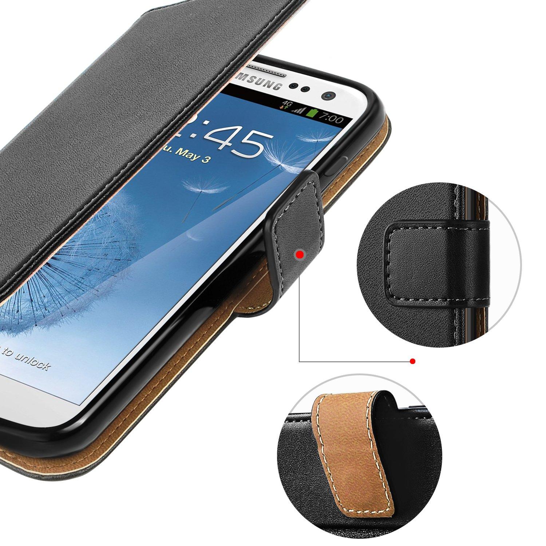 18c8b59c719 HOOMIL Funda Samsung Galaxy S3, Cuero Premium Fundas para Samsung S3 / S3  Neo Carcasa Case (H3035, Negro): Amazon.es: Electrónica